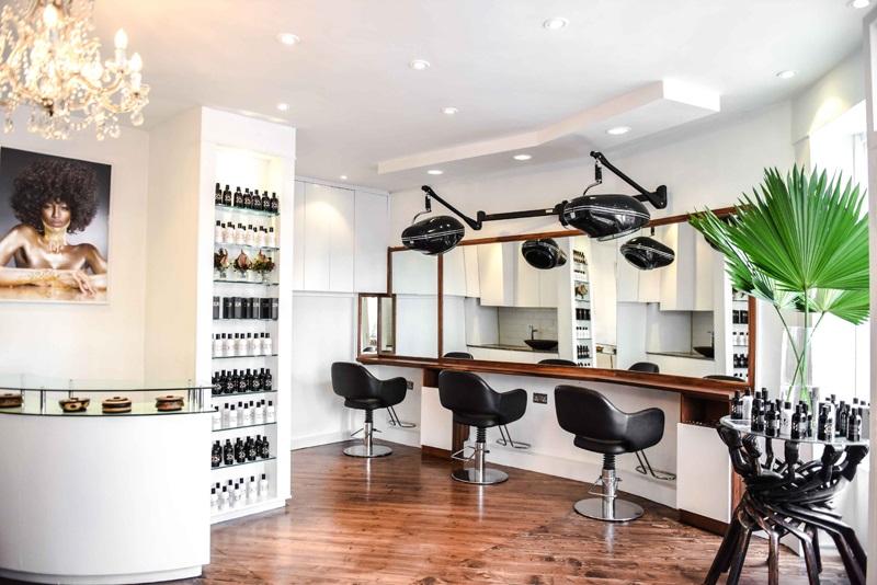 Mensah's salon - Hair Lounge, in London's Notting Hill