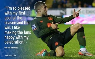 Gerard Deulofeu dedicated his Reading goal to the fans
