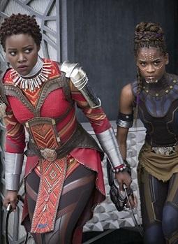 Lupita Nyong'o Sporting The Wakanda Knot, The Black Panther