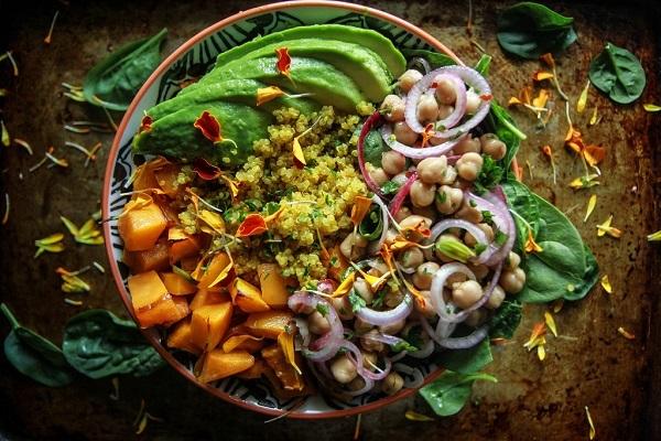 Vegan Autumn Quinoa Bowl
