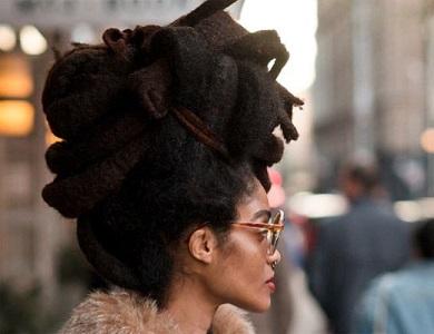 Natural Hair Updo Locs
