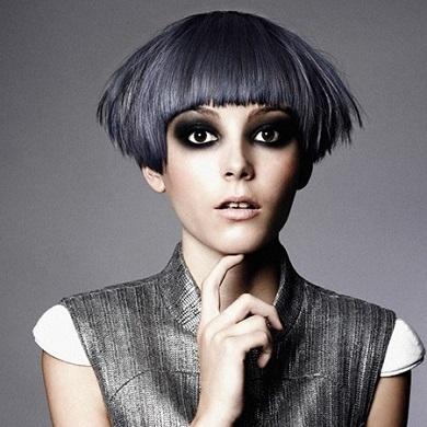 Blue Grey Designer Hair
