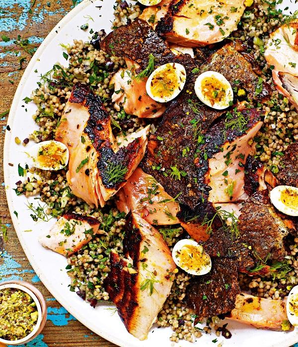 Jamie Oliver S Moroccan Salmon With Quinoa