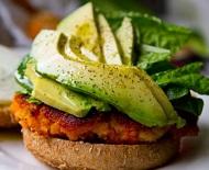 Easy Sweet Potato Veggie Burgers! With Avocado